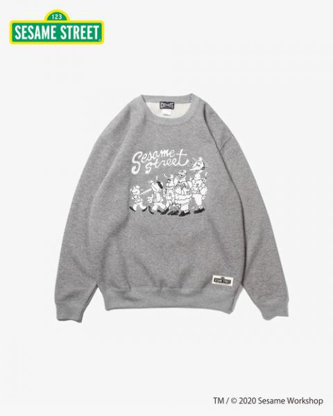 CUT-RATE(カットレイト)Sesame Street CREW SWEAT